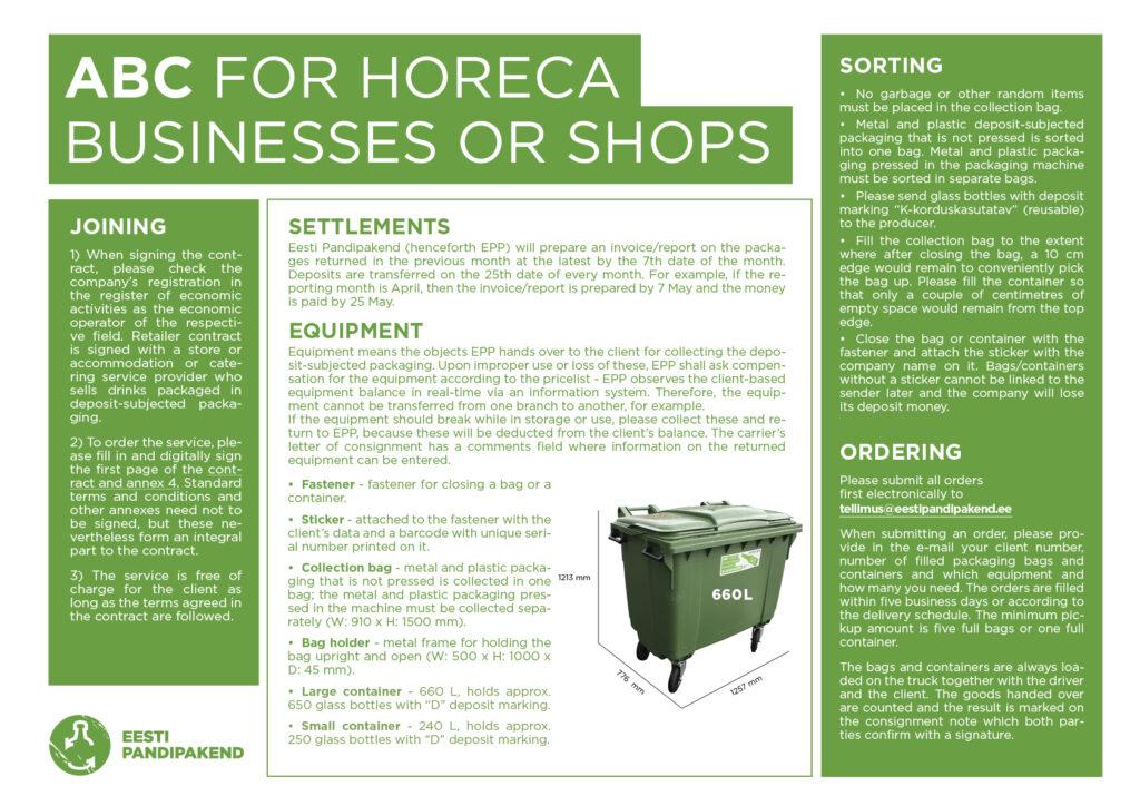 Horeca or shop ABC